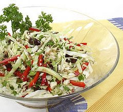 A view of Greek Cabbage Salad