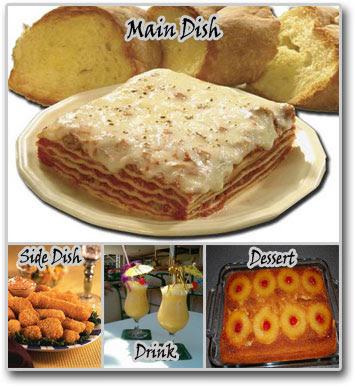 Lasagna with nuggets meal idea