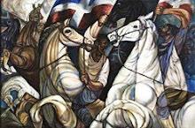 EL GRITO DE LARES  en CANTO A PUERTO RICO de Matos Paoli  y en lienzo de Augusto Marín