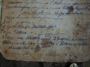 "recipe for ""war chocolate"" (= substitute-)"