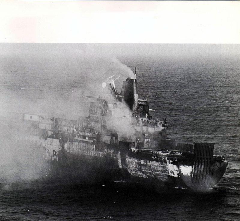 La guerra de las Malvinas Atlantic-conveyor