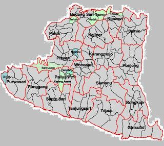 Peta Gunungkidul