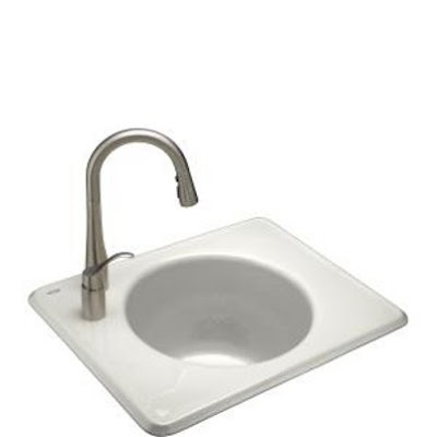 utility laundry sinks-Tandem self rimming