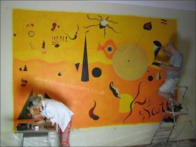 miror wall painting wall units