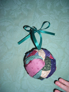 Fabric Scrap Christmas Ornament