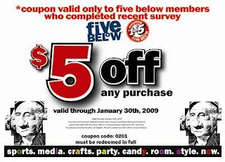  $5 off a $5 or More Purchase at Five Below
