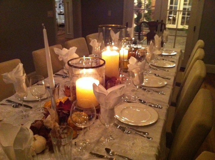 Table Setting For Dinner Party : The Table Setting: Fall Dinner Party for twelve
