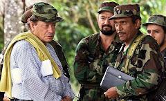 El legendario Manuel, Carlos Antonio Losada, Joaquin Gomez del Bloque Sur, y al fondo Ivan Rios