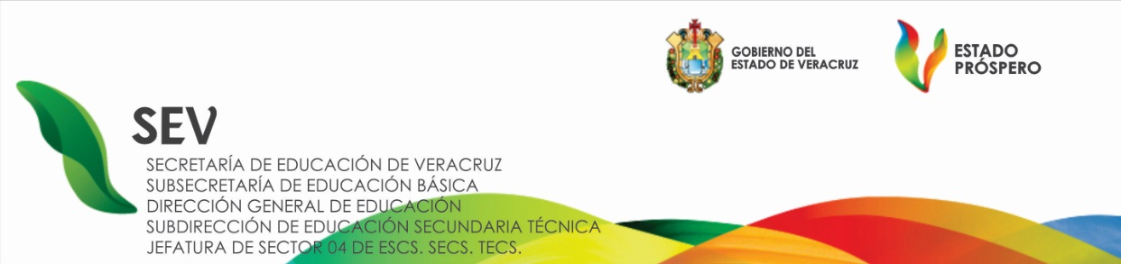 JEFATURA DE SECTOR 04. SECUNDARIAS TECNICAS. ORIZABA.