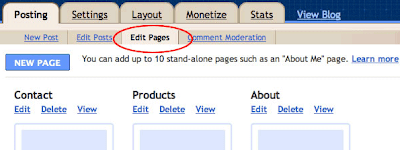 Blogger Static Pages