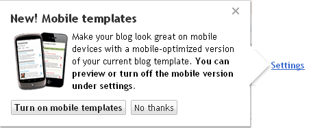 Blogger Mobile templates