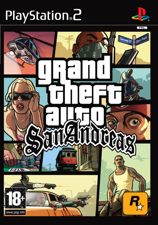 Gta san andreas ps2(pal)(best game forever)