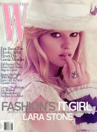 W Magazine Agosto 2009-Lara Stone