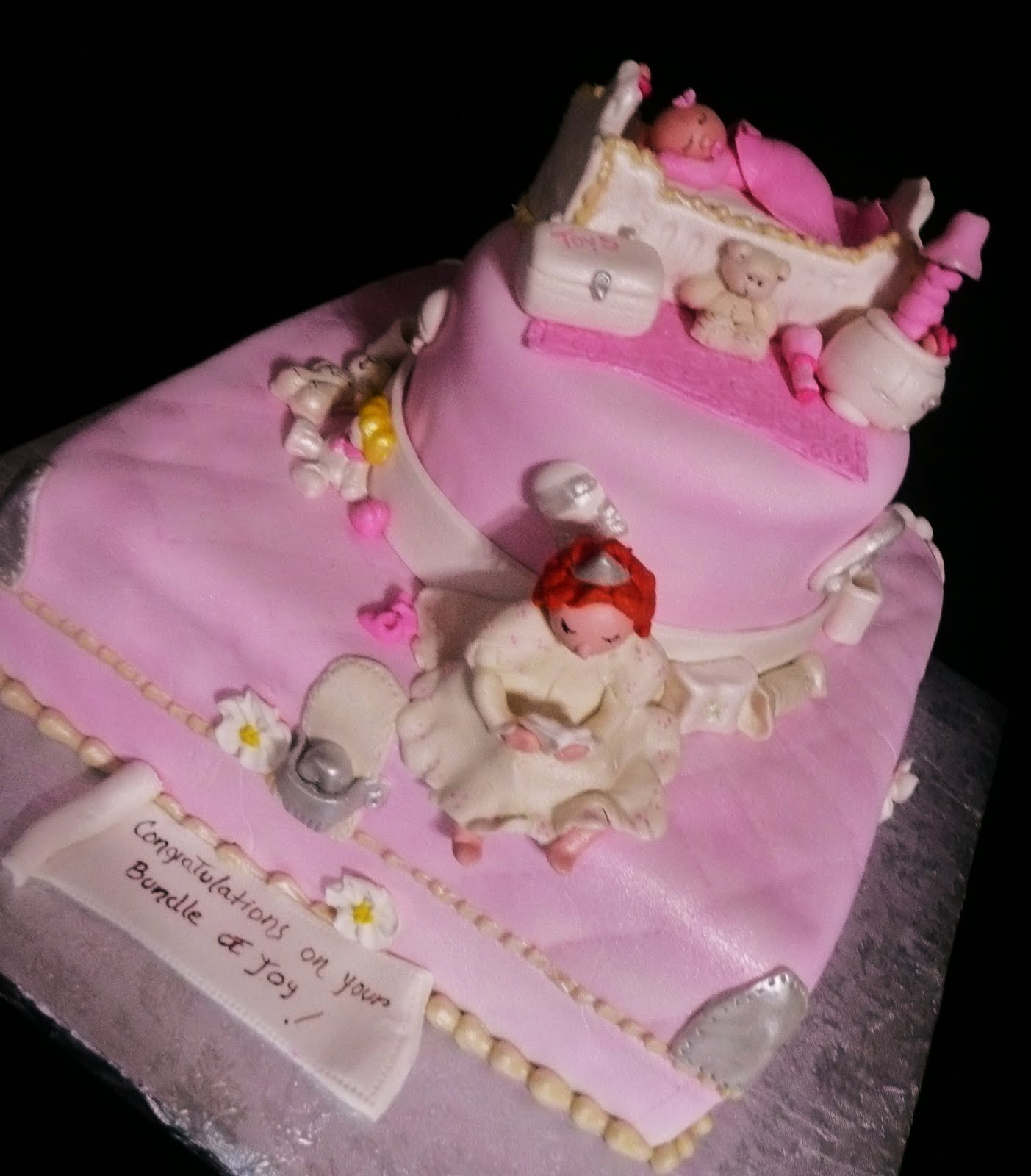 Baking with Roxana s Cakes Fancy Nancy Baby Shower Cake