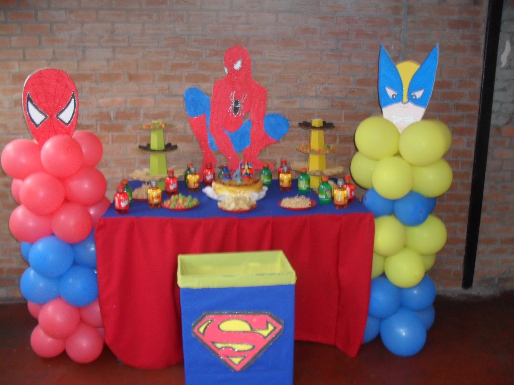 Decoracion de cumplea os decoraciom simple mesa spiderman - Decoracion de mesa de cumpleanos ...