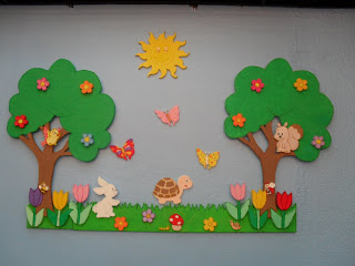Decoracion de cumplea os mural la primavera - Mural para cumpleanos ...