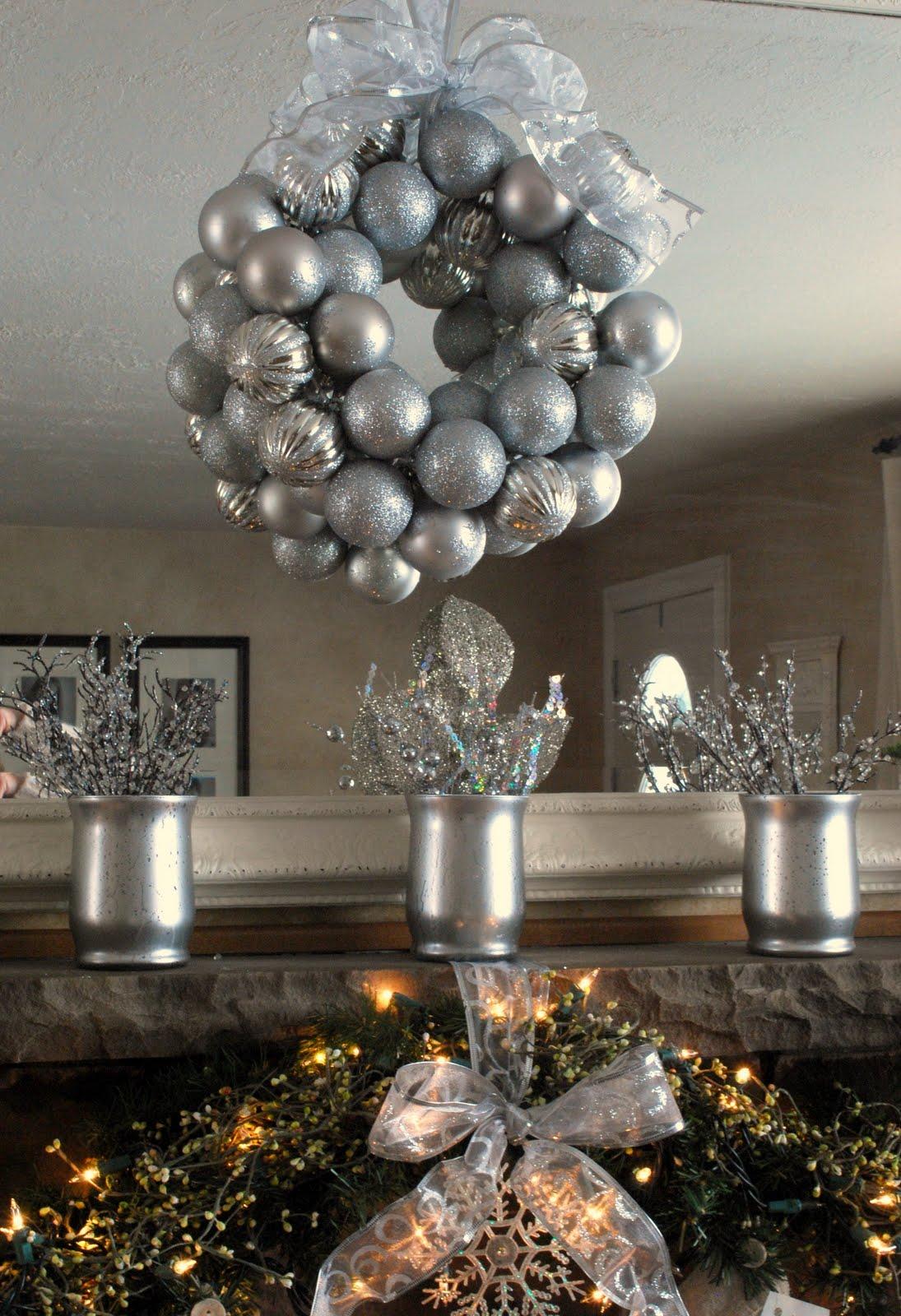 The Shabby Nest My Christmas Mantel Fireplace Mantel Ornaments
