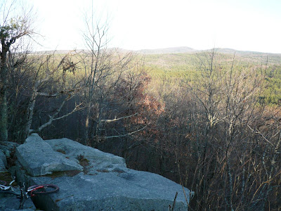 From summit of Catamount Hill in Bear Brook State Park looking towards Fort Mtn