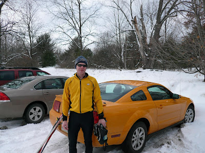 Hertz rental, the worst possible car for MI winter, and nasty color.  A skier snickered that it matched my jacket.  Thank's bud.