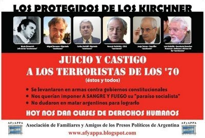 Lista Numeraria de muertos por la guerrilla en argentina