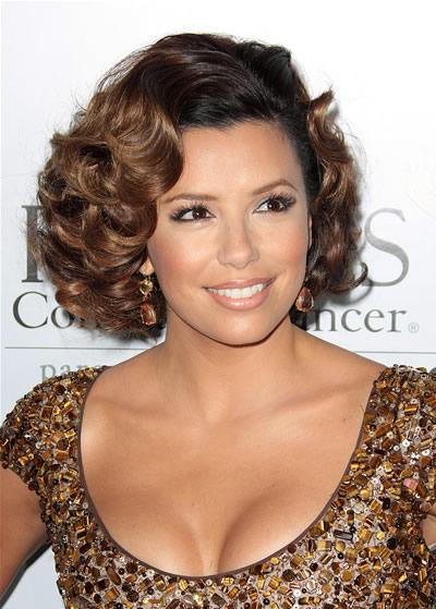 celebrity hairstyles eva longoria. makeup eva longoria