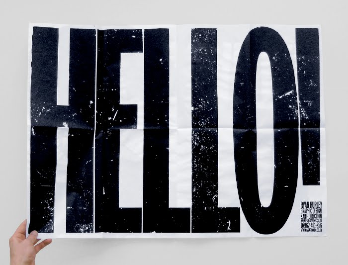 ryan hurley graphonic hello poster 10 Ryan Hurleys HELLO Poster