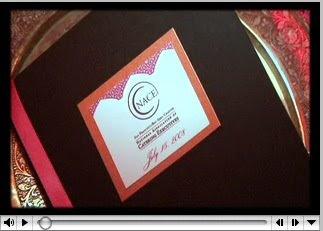 chocolate wedding program