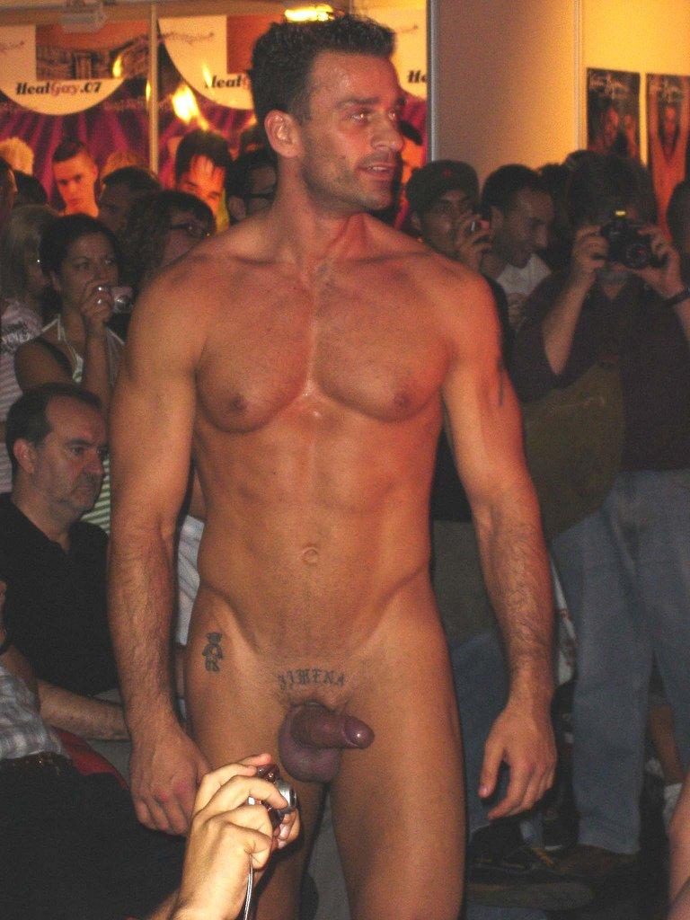 Nude male stripper naked public