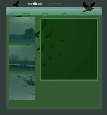 birds green layout