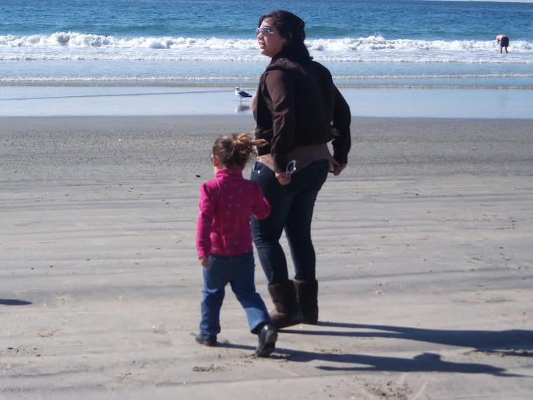 Ash and Mia at the beach