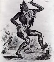 Jim Crow Minstrel Character Singing & Dancing To Racist Music