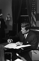 John Kennedy Committed to Civil Rights Signs Federal Legislation
