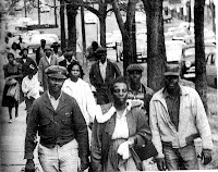 Photo: Montgomery Bus Boycott walking to school and work