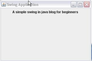 java blog for beginners: Java swing tutorial examples for