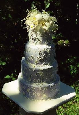 Watercolor Wedding Cake Columbus Ga