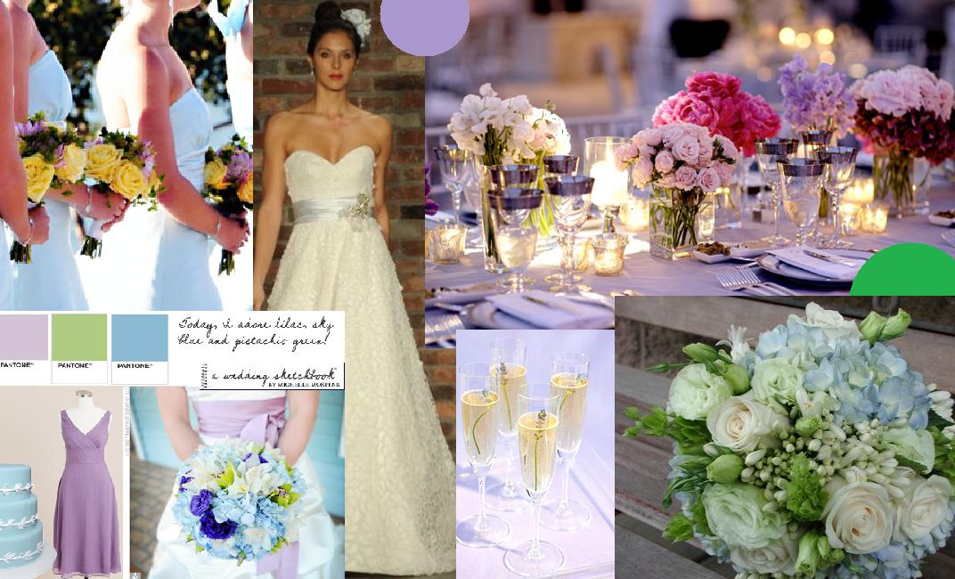 Something about these colors just scream beautiful romantic spring wedding