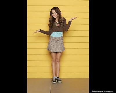Celebrity Wallpaper of Miley Cyrus Hannah Montana