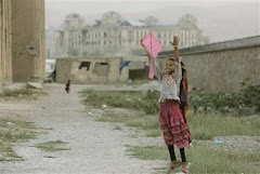 Afghan girl with kite