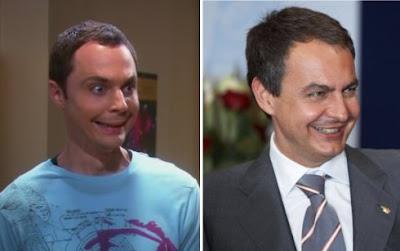 A la derecha Jim 'Sheldon Cooper' Parsons, a la izquierda Jose Luis 'zetape' Rodriguez Zapatero