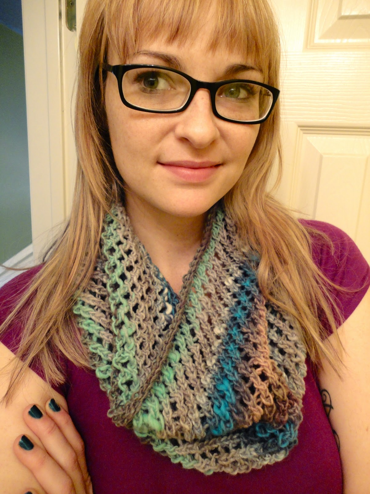 Made by Becky: Wicker Circle Scarf