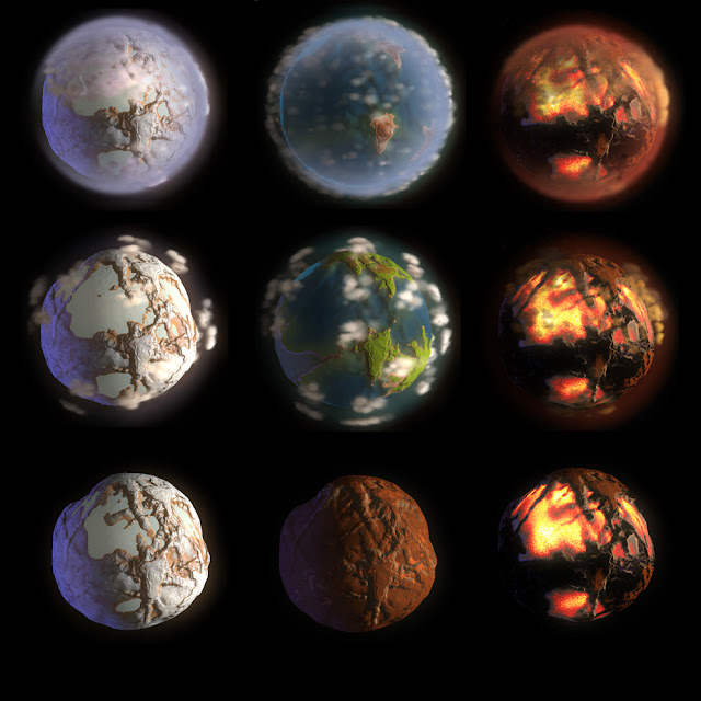 terraformed solar system with labels -#main