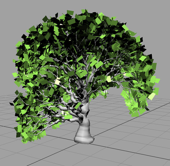 how to make a simple tree in maya