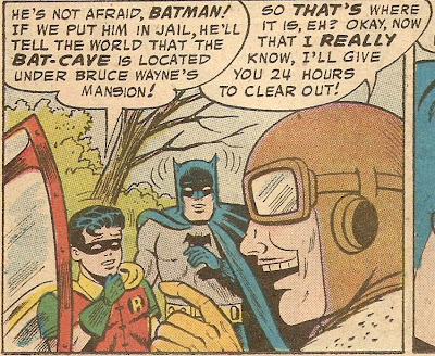 Batman's head is surrounded by stun lines because he can't believe Robin is that stupid