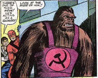 The Reds, fortunately, had scads of gorilla-sized hammer and sickle coveralls lying around