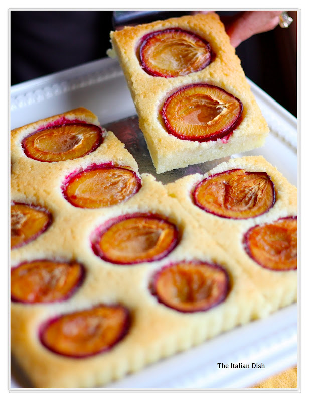 The Italian Dish: Plum Almond Cake