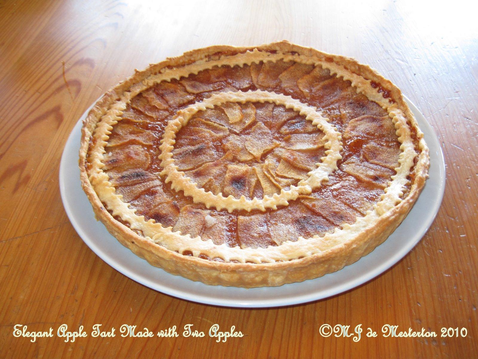 Elegant apple pie recipe