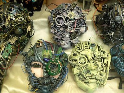 Recycled Computer Parts Creativity