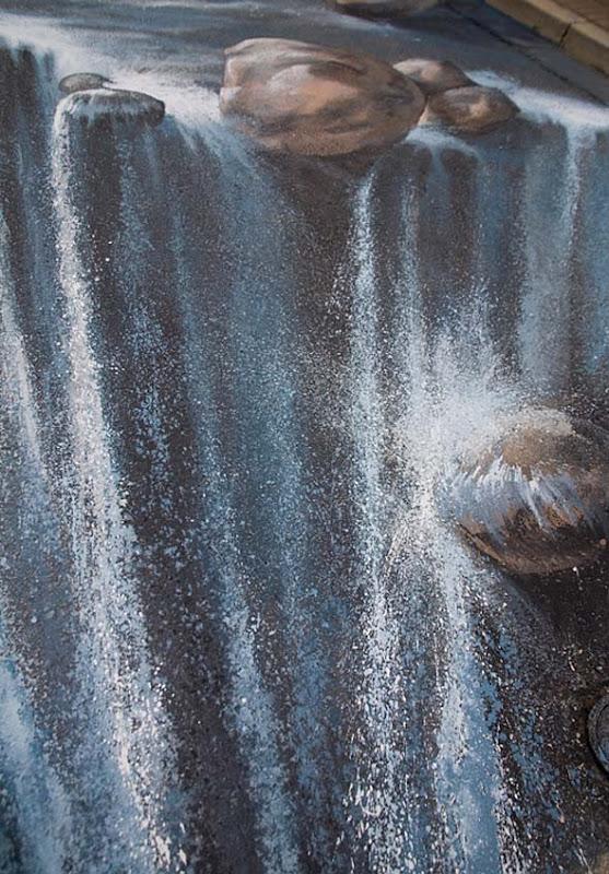 Amaze Pics Amp Vids 3D Street Art Pavement Waterfall