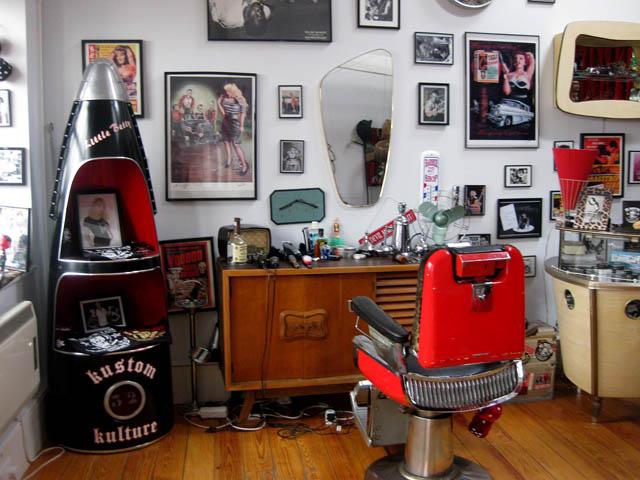 Salon De Coiffure Retro : Le du salon de coiffure vintage à londre