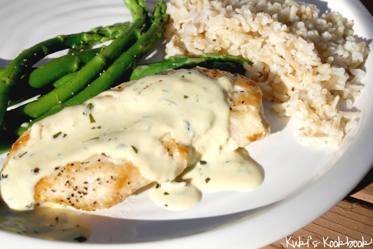 Kuki's Kookbook: Sauteed Chicken with Creamy Mustard Sauce